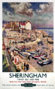 Sheringham, Norfolk, Twixt Sea and Pine. Vintage BR Travel poster by TW Armes.